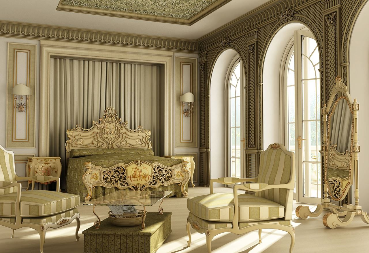 Luxury Bedrooms Interior Design Magnificent Therococostyleluxurybedroom 1280×880  2Мебель И Review