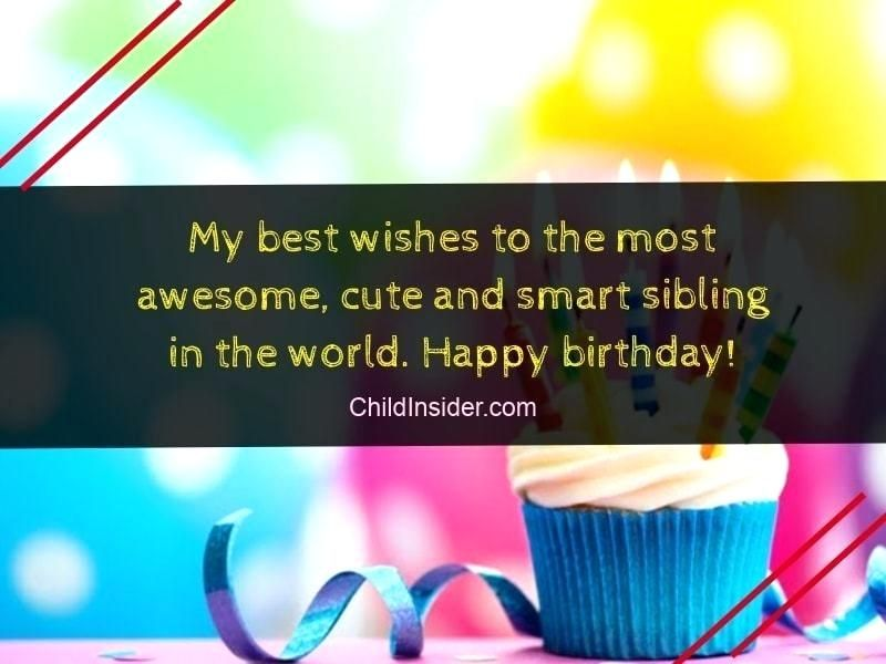 Luxury Birthday Wishes For Younger Brother From Elder Sister Arts