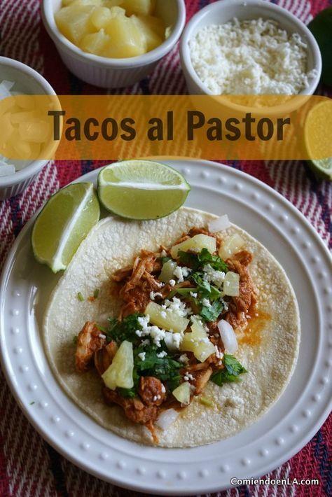 Cómo preparar Tacos al pastor en casa y usando olla lenta (Paso a paso).
