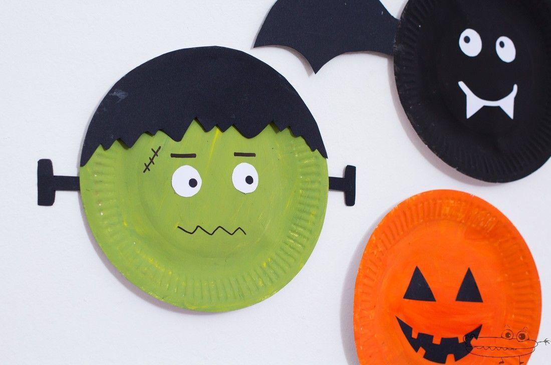 Decoraciones de Halloween con platos Decoracin halloween