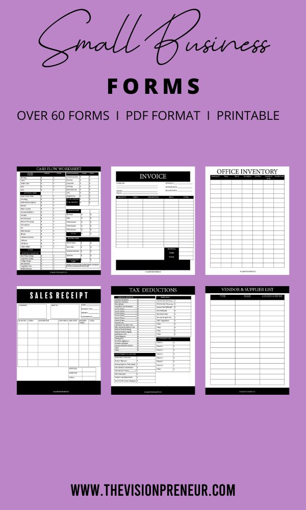 Small Business Kit Home Business Planner Easy Business Planner Business Tracker Business Planner Income Expenses Sales Receipt Forms Business Planner Small Business Planner Business Budget Template