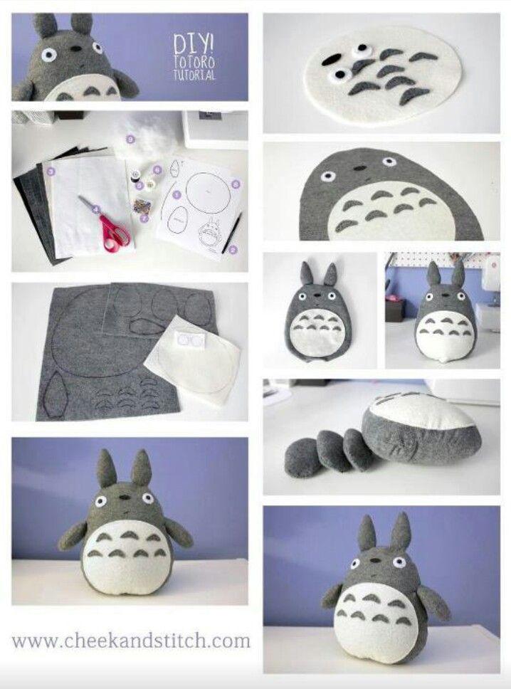 Krapon Kagidindan Gul Buketi Yapilisi Oyuncak Totoro Elisi