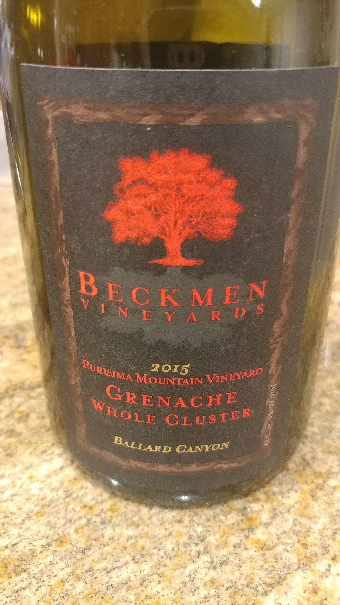2015 Beckman Vineyards Grenache Grenache Vineyard Wines