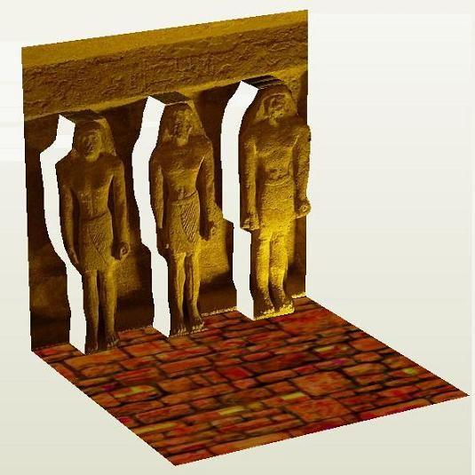 Egyptian Guys 3D Paper Model