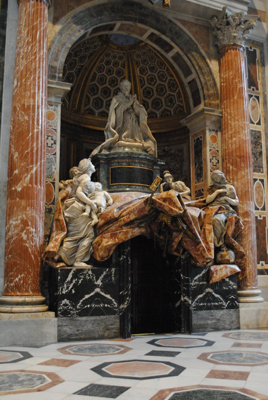 Tomb of Pope Alexander VII, St Peter's in Rome Vatican
