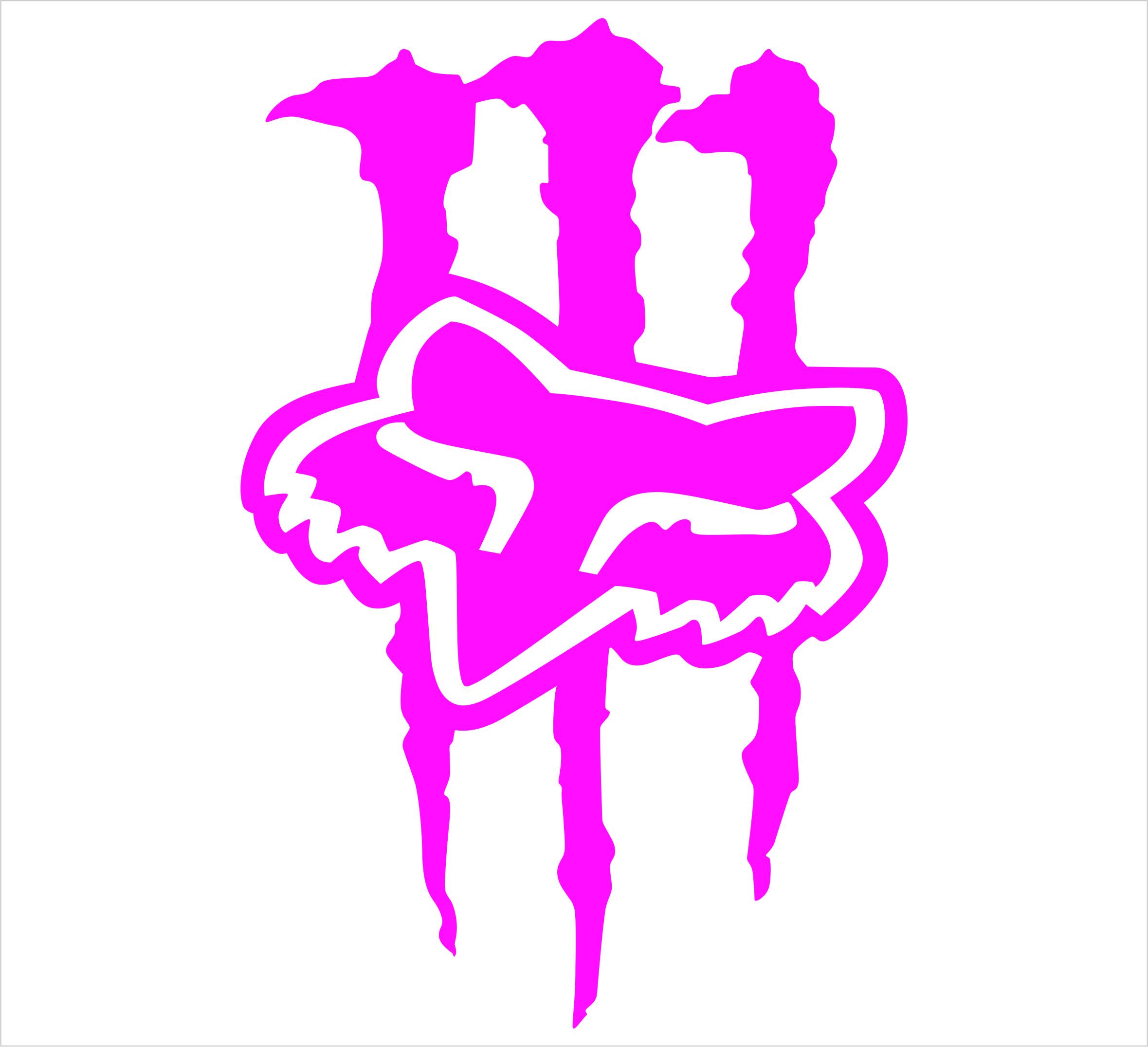 monster and fox logo clipart vector illustration u2022 rh swipcc org fox and monster energy fox and monster energy hats