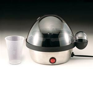 Maverick Egg Cooker/Poacher by Maverick. $33.45. Maverick Egg Cooker/Poacher This handy portable egg cooker is a neat and easy to use way to cook your eggs. Just use the included measuring cup to put a very precise amount of water into the stainless steel and plastic base. Turn it on with the lighted on/off button and it boils and steams away the water, then shuts off and buzzes to alert you. More water, more cooking time. Less water, shorter time. The measuri...