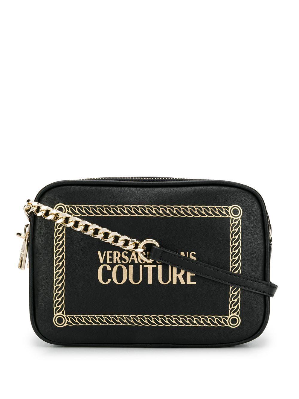 Versace Jeans Couture logo crossbody bag Black | Versace