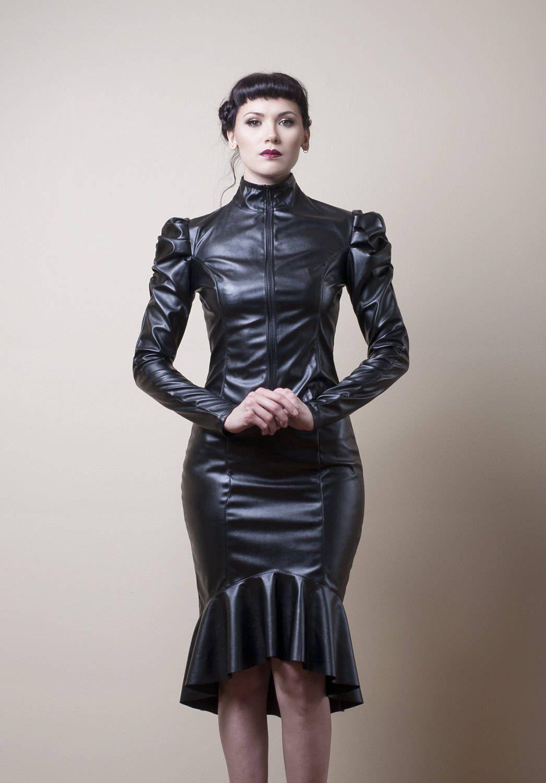 Veste robe simili cuir