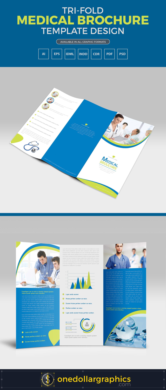 Tri Fold Medical Brochure Template Design In Ai Eps Pdf Cdr Pdf Indd Idml Formats Brochure Design Template Medical Brochure Brochure Design