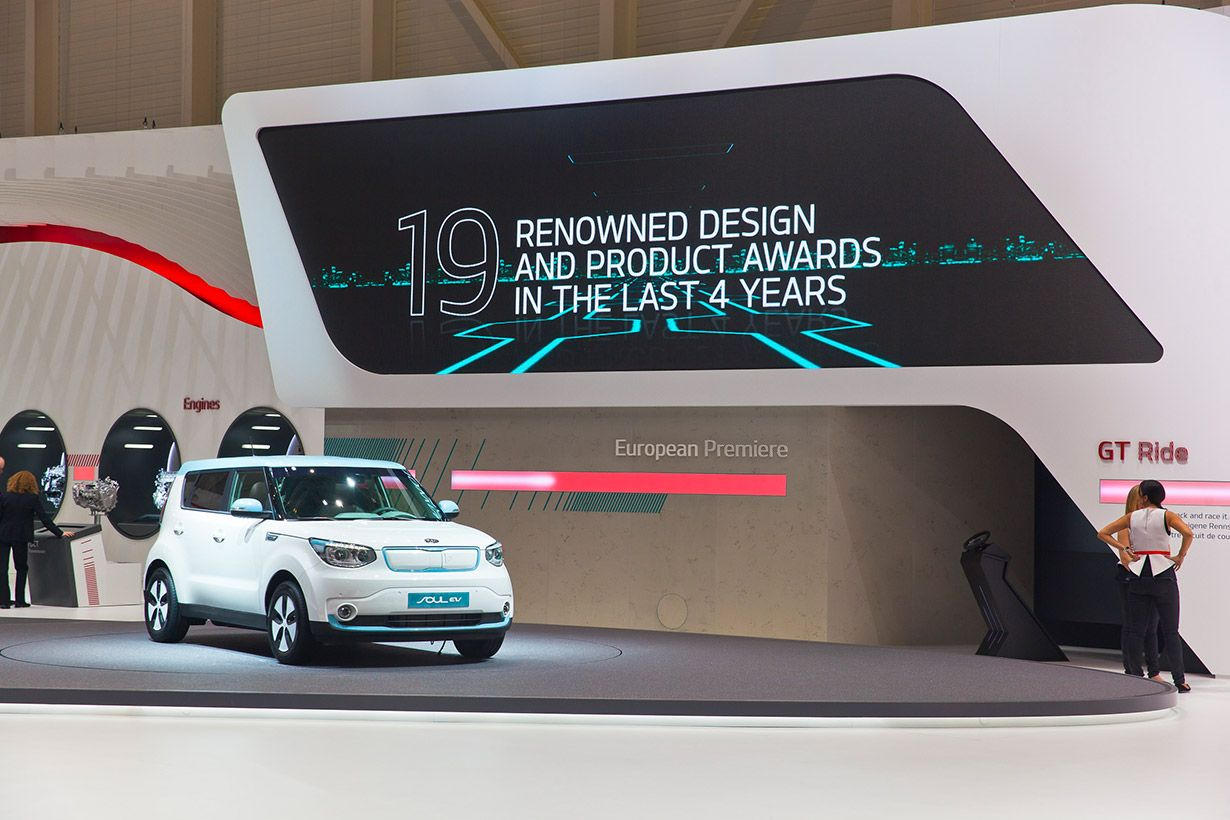 Kia auf dem internationalen Autosalon Genf 2014. Genf