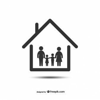 Silueta Familia Vectors Photos And Psd Files Casas De Familia