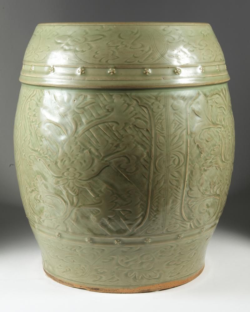 iGavel Auctions: Chinese Celadon Glazed Ceramic Garden Stool, Ming ...