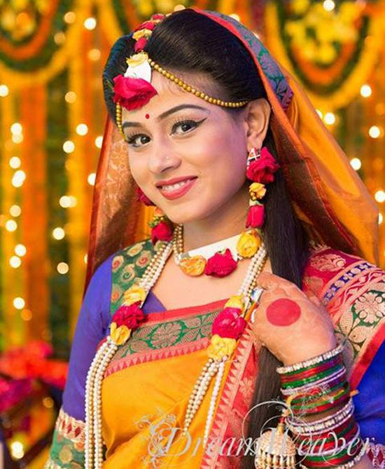 Haldi Ceremony Fresh Flowers Pink White Mehndi Wedding Pictures Brides Ornaments Photos Bridal