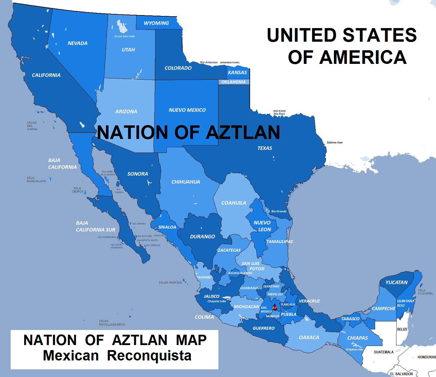 Many Mexicans Believe The Southwestern US Belongs To Mexico - Map of south western us