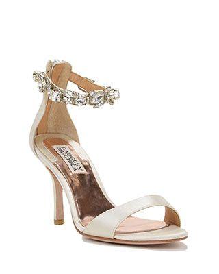 Clark-II Satin Ankle Strap Evening Shoe