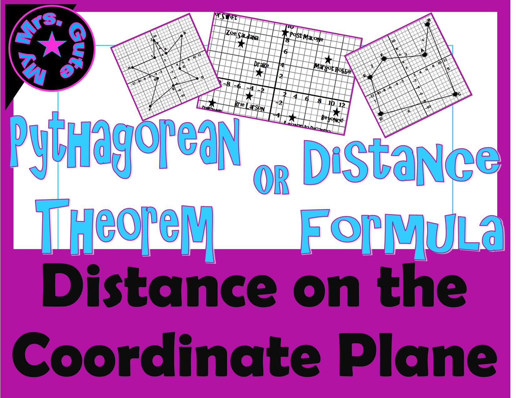 Distance on the Coordinate Plane Teacher newsletter
