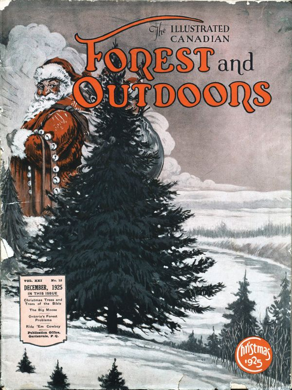 Cover of The Illustrated Canadian Forest and Outdoors magazine, December 1925 | Date: 1925  Reference no.: forest_outdoors_Dec1925