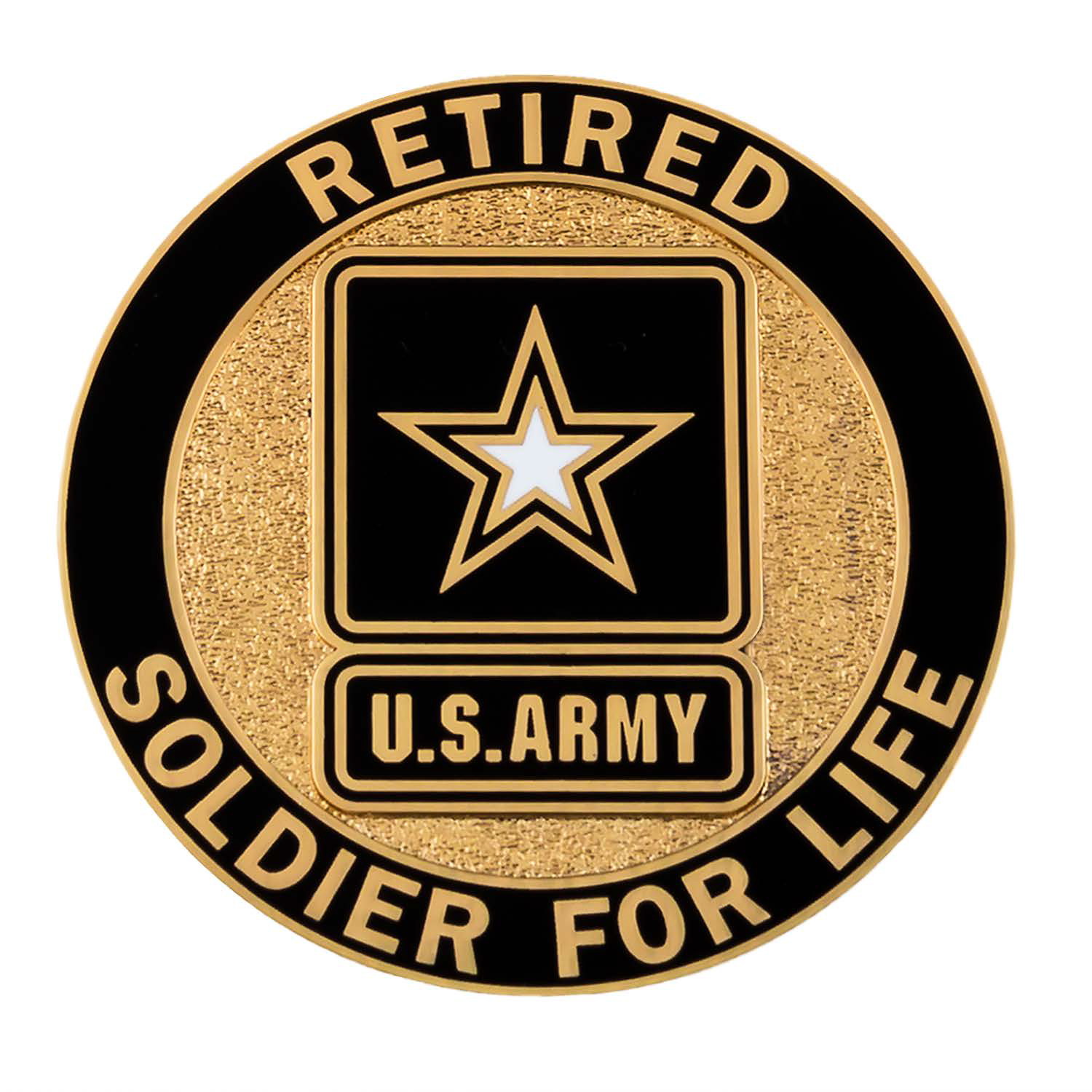 Retired Service Identification Badge Us Army Soldier Army Retirement Army Challenge Coins