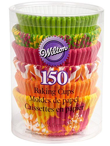Wilton 150pack Baking Cups Value Pack Assorted Standard Neon