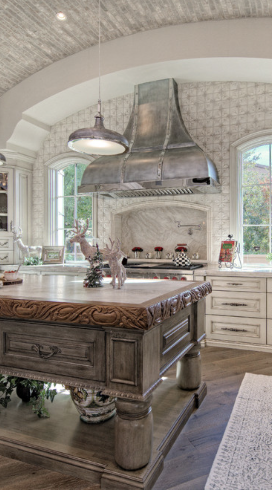 Old World Kitchen With Their Large Cooking Hearths Or