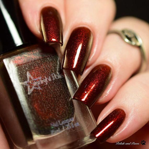Christmas Nails Nexgen: Eye-catching Red Christmas Nails.. #redchristmasnails