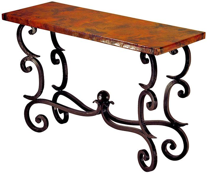 Amazing Beautiful Wooden And Wrought Iron Console Table That Will Be Featured  Behind The Sofa In The