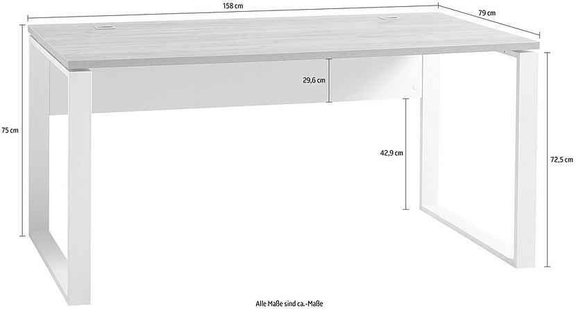 Germania Schreibtisch Gw Lioni Masse B T H 158 79 75 Cm Online Kaufen Otto Schreibtisch Tisch Wolle Kaufen