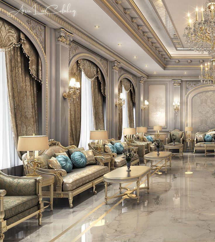 Neo Classic Majlis | Luxury mansions interior, Classic ...