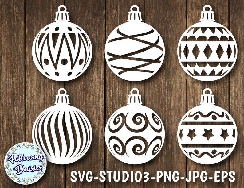 Christmas Balls In Svg Pack 2 Christmas Decorations Christmas Ornamet Stencil Christmas Ornament Svg Svg Files For Cricut And Silhouette Bolas De Navidad Adornos Navideños Decoración De Navidad