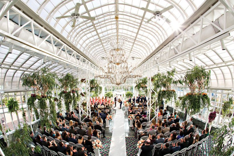 a wedding at the madison hotel conservatory in morristown