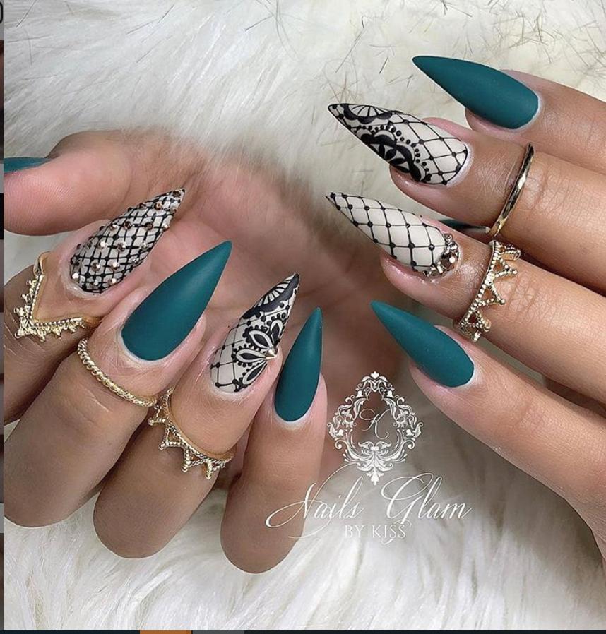 36 Stylish Acrylic Nail Designs for New Year 2020 birthdaynails in 2020 | Acrylic nail designs, Nail designs, Popular nails