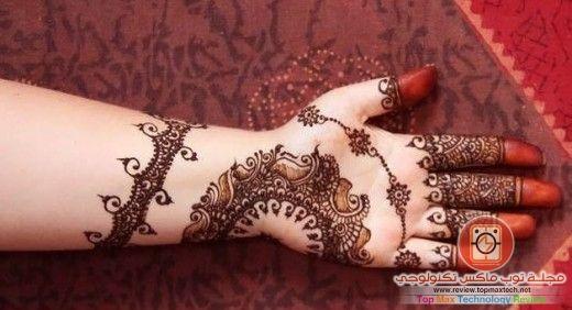 صورة نقش حناء ناعم جدا نقوش رقيقة على الاصابع و وردة انيقة New Mehndi Designs Latest Henna Designs Latest Mehndi Designs