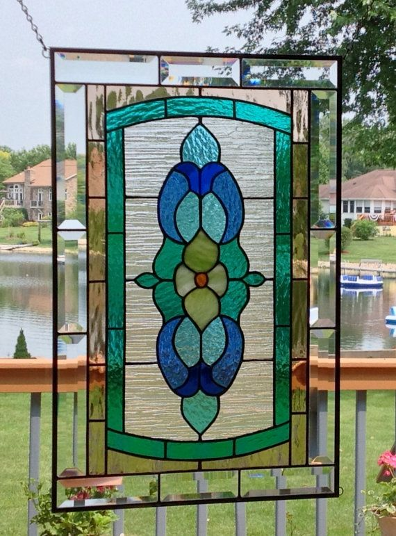 Victorian Stained Glass Panel Window Large Stained Glass Window Panel Window Hanging Transo Victorian Stained Glass Panels Stained Glass Patterns Stained Glass