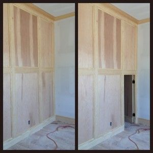 Moving Wall Panel Door Conceals Secret Room