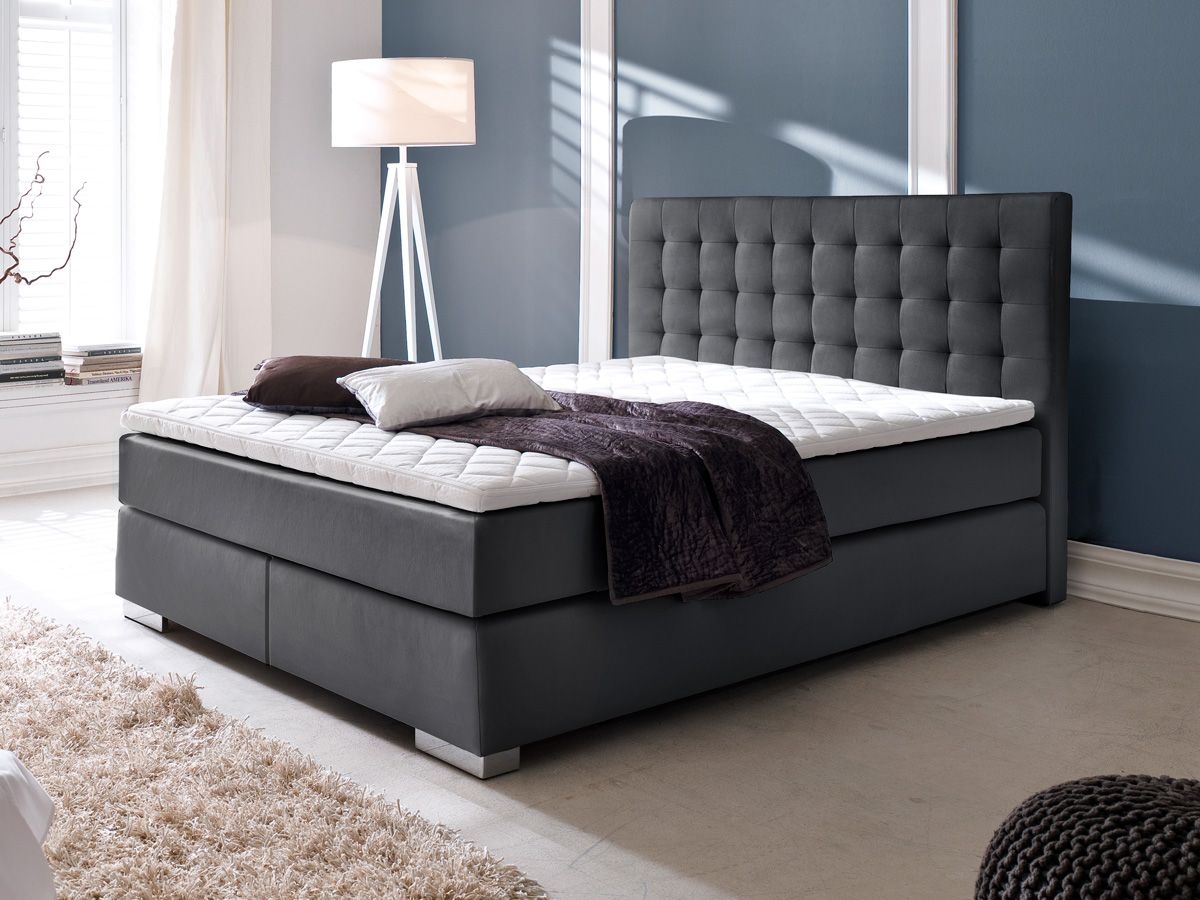die besten 25 boxspringbett 160x200 ideen auf pinterest boxspringbett 160 boxspringbett grau. Black Bedroom Furniture Sets. Home Design Ideas