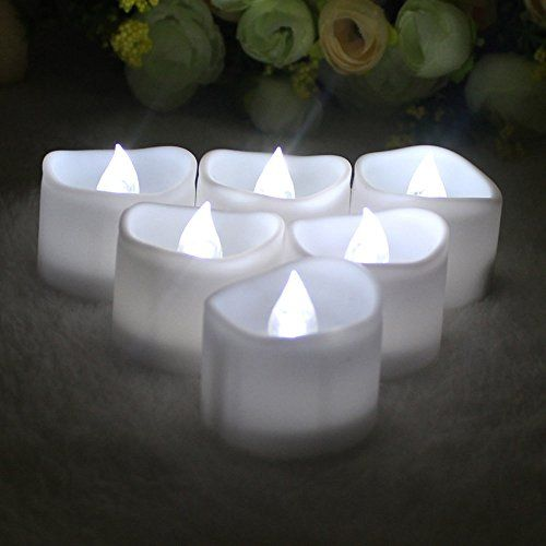 A Point Battery Operated Candles White Bright Flickering Flameless