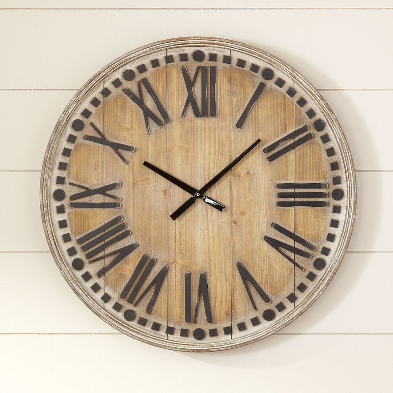 Oversized Linden 31 5 Wall Clock In 2020 Wall Clock Clock Oversized Wall Clock