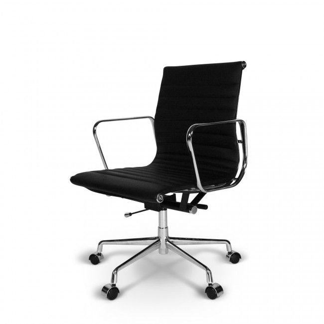 Eames Ea 117 Zwart Eames Chaise Bureau Chaise
