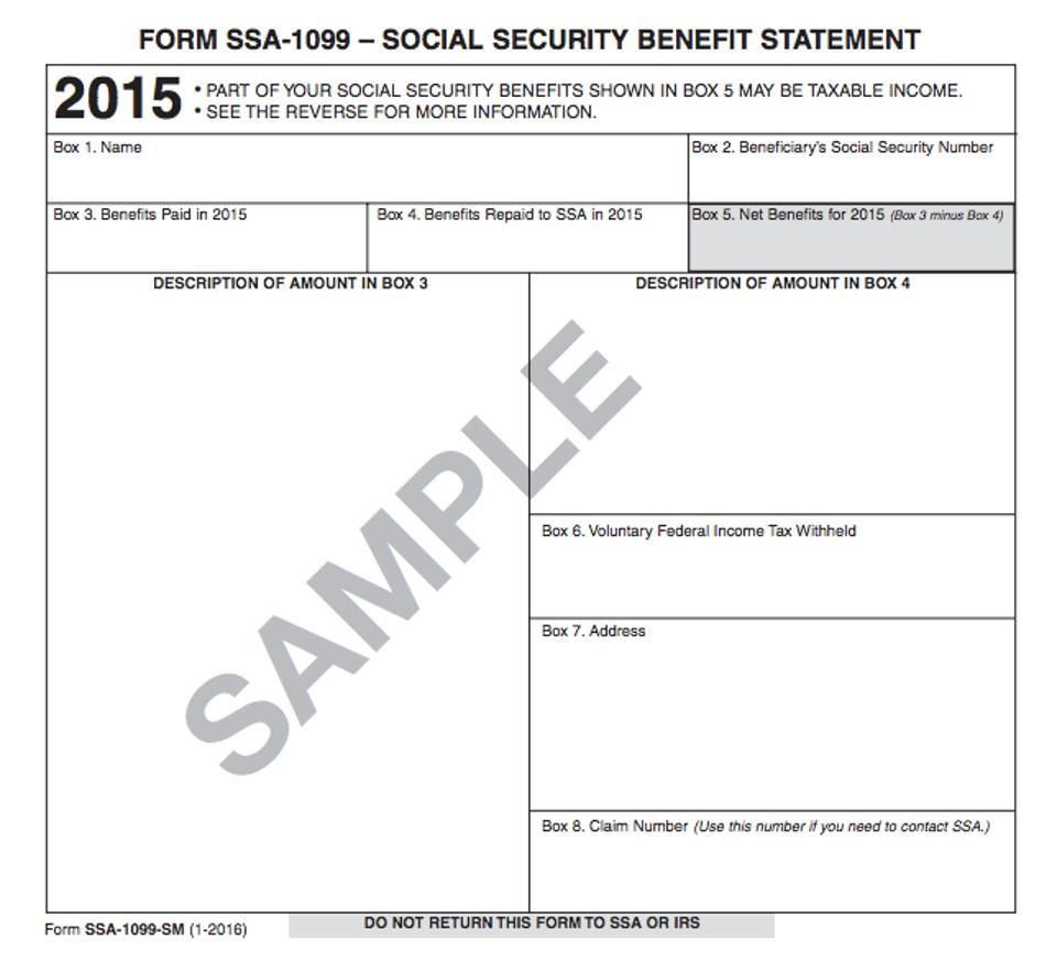 Social Security 1099 Form 2016 Mersnoforum