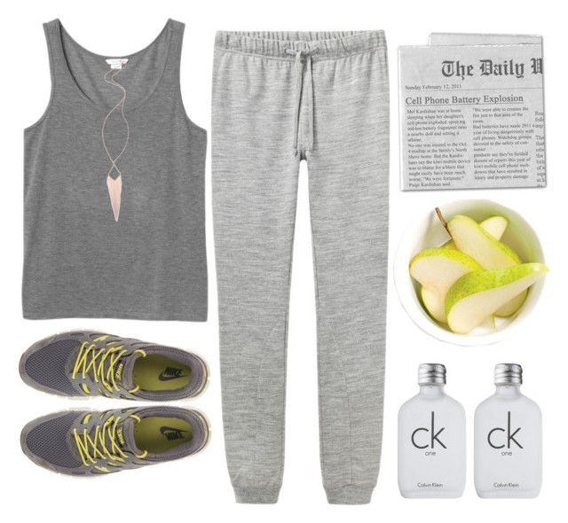 """""""I'm here to chase away these tears"""" by gitasamudra ❤ liked on Polyvore featuring Monki, Jules Smith, A.P.C., NIKE, Daphne and Calvin Klein"""