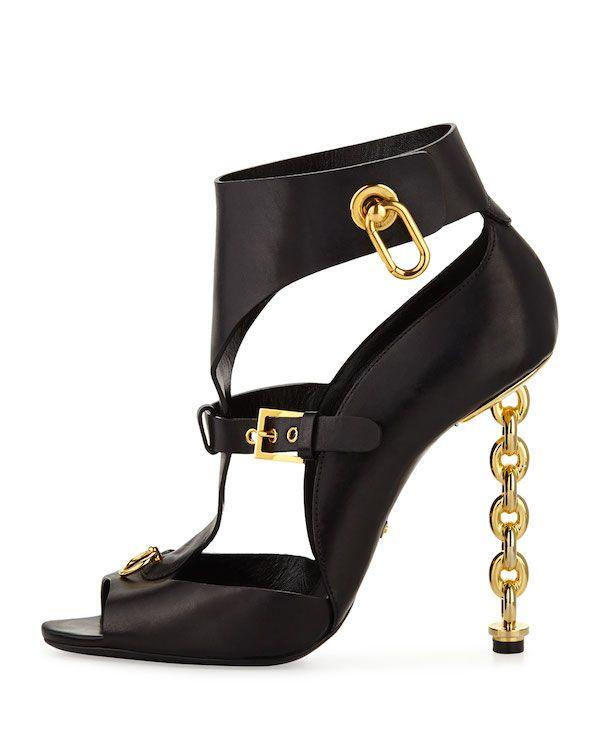 859ebdd5b7a Tom Ford - Chain Link Heel Gladiator Sandals