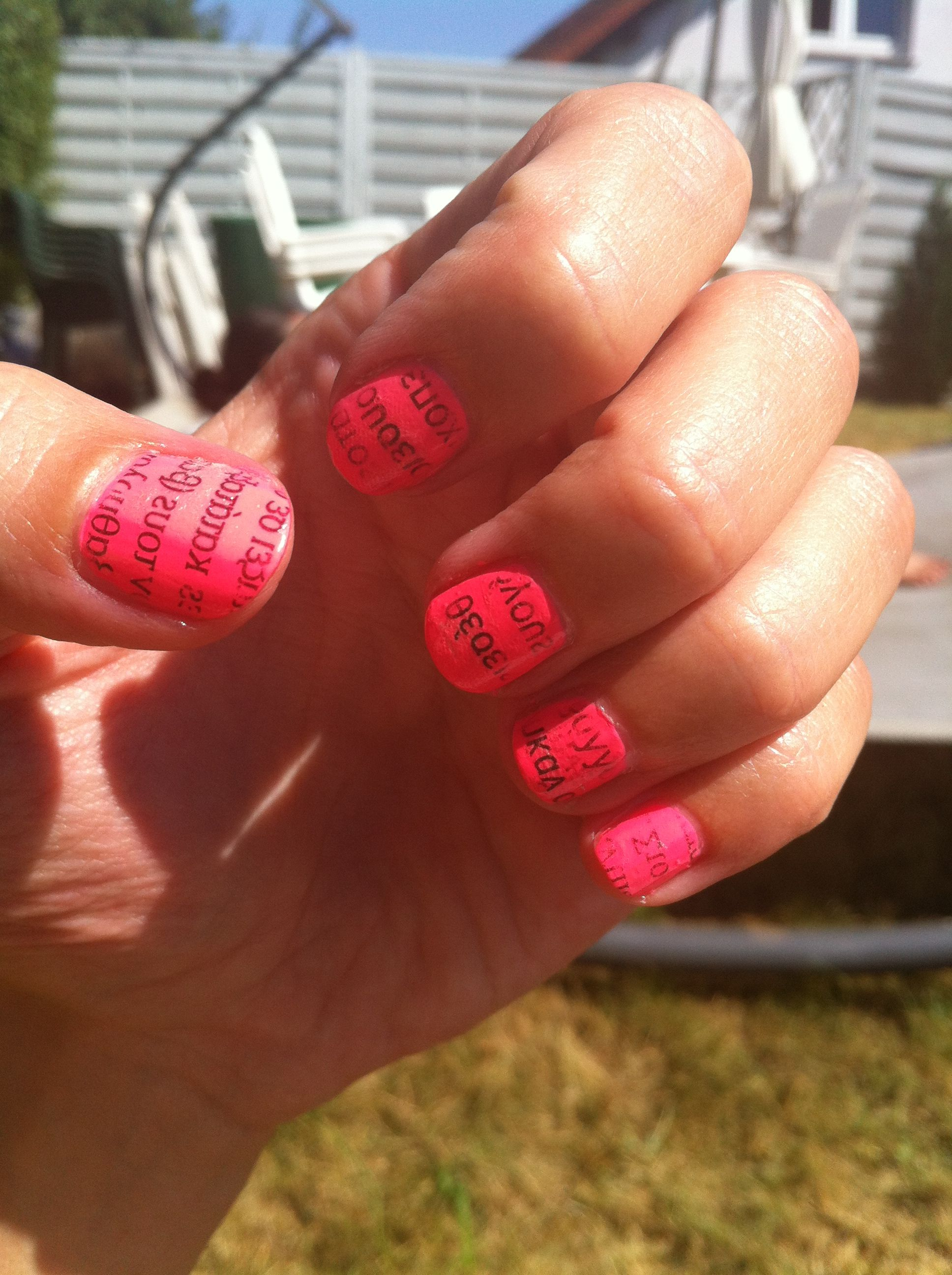 Newspaper Nail Design | Nails_Galore<3 | Pinterest | Newspaper nails ...
