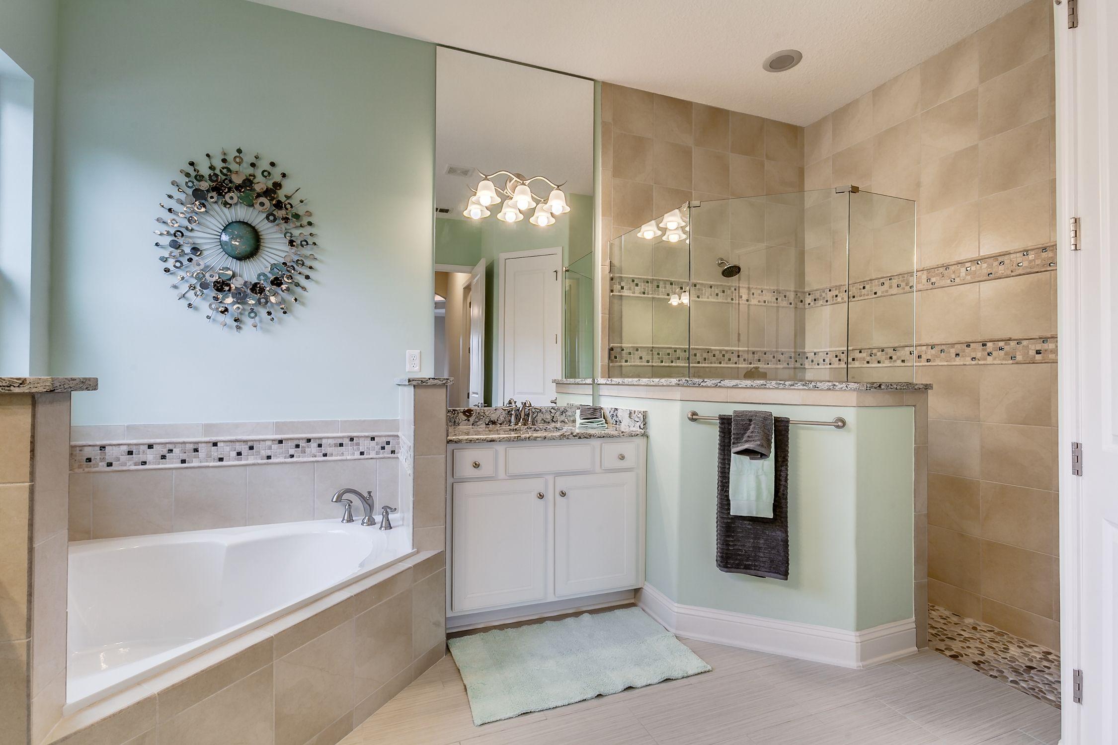 Model Home in John's Landing: Master Bath.