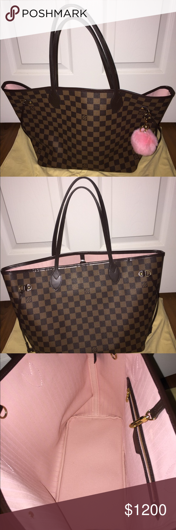 5aa408f1472b Authentic Louis Vuitton Neverfull MM 💯 Authentic Louis Vuitton Neverfull MM  RB in the ebene print