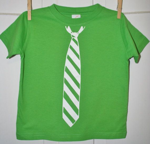 Fancy PantsTie T Shirt in Apple Green Great for Easter by OVELO, $20.00