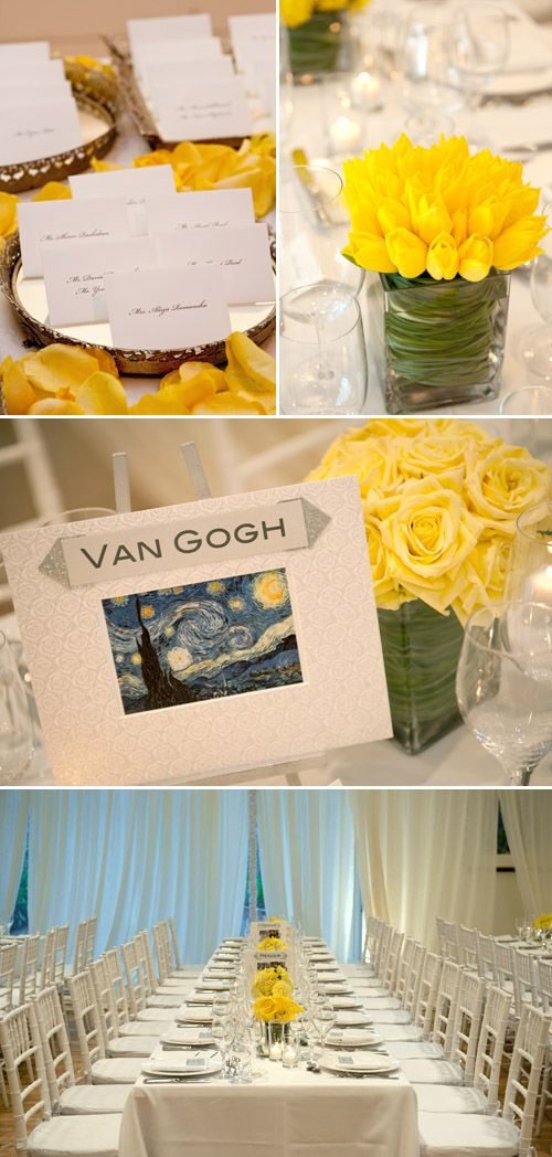 2c5c54aca39d Yellow floral and decor details add cheerful and artsy touches to bright  wedding
