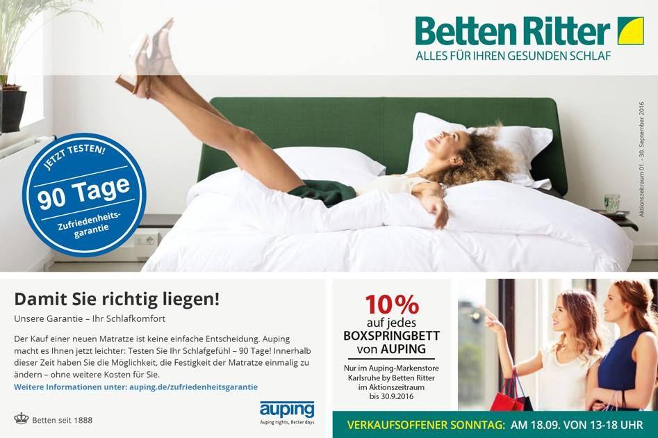 Unsere Garantie Ihr Schlafkomfort Die 90 Tage Zufriedenheitsgarantie Von Auping Der Kauf Einer