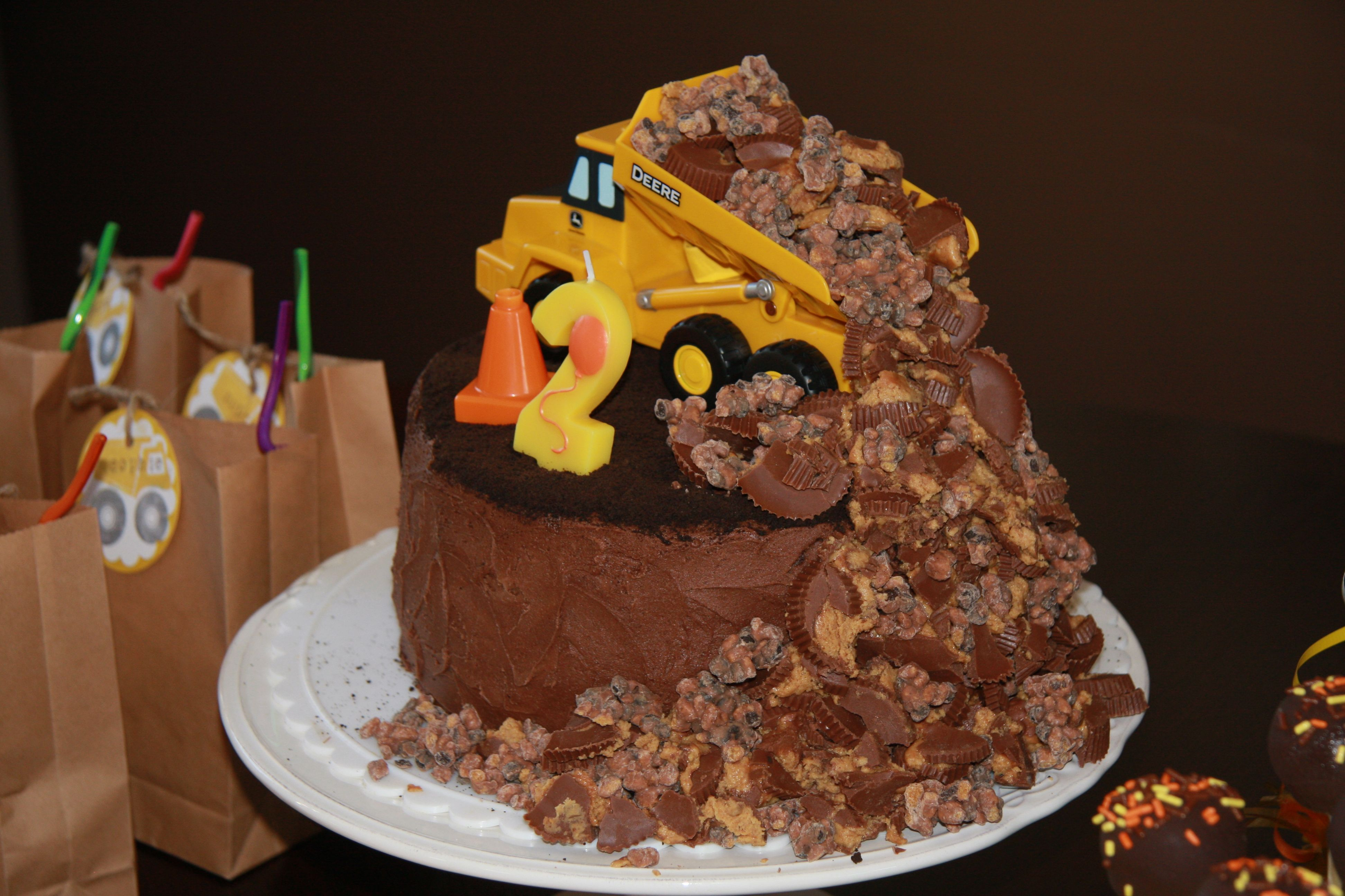 A toddler birthday Truck birthday cakes Dump truck and Birthday cakes