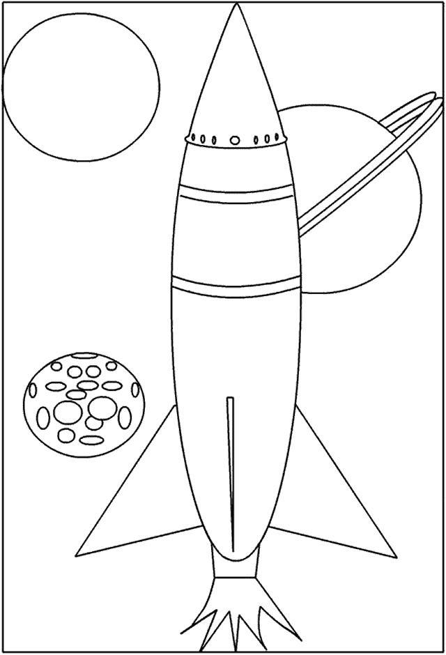 Dibujos para Colorear Espacio 2
